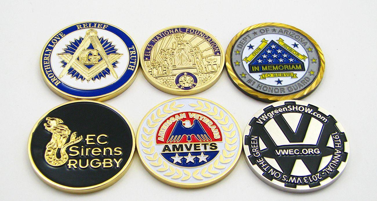 Custom Club Coins - Quality Challenge Coins - No Minimum