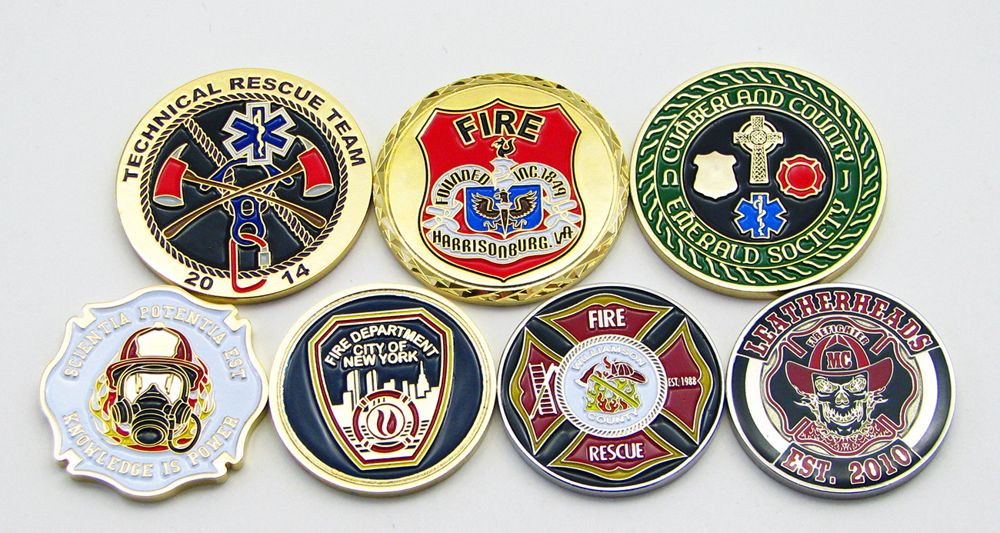 Firefighter Challenge Coins - Custom Challenge Coins
