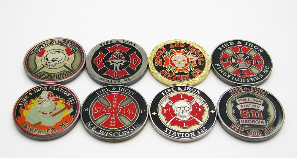 Fire Chief Custom Engraved Firefighter Challenge Coin