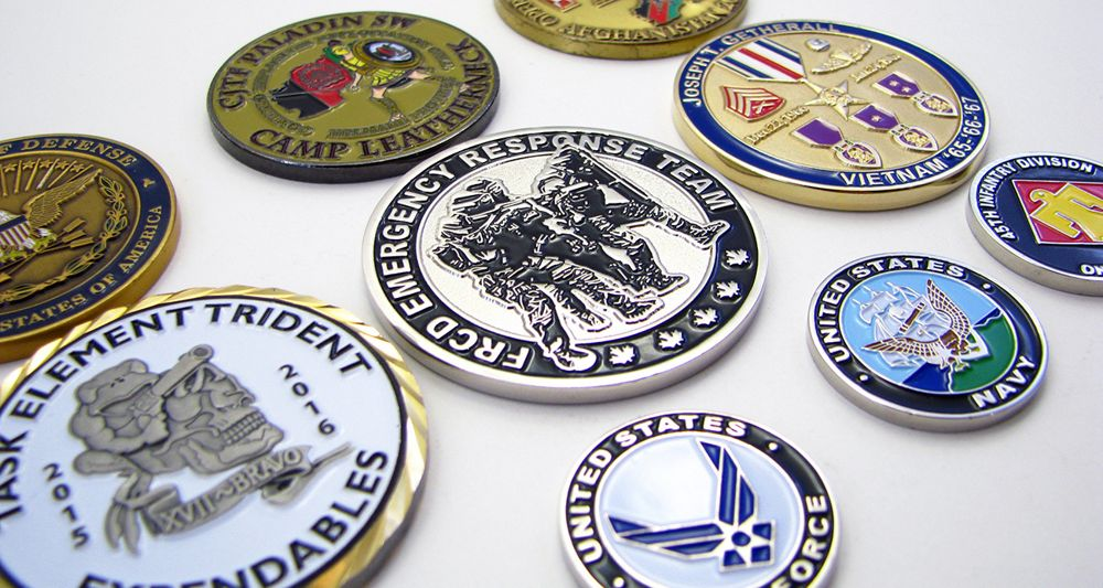 Military Challenge Coins - No Minimum - Quality Challenge Coins