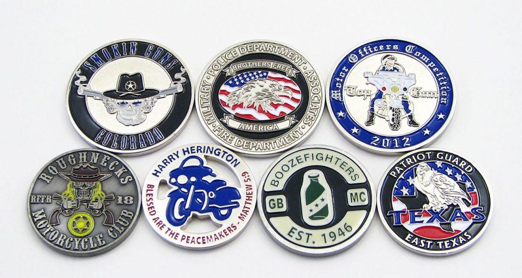 custom motorcycle coins