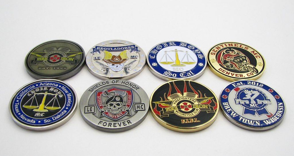 custom motorcycle coins