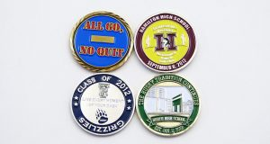 custom school coins